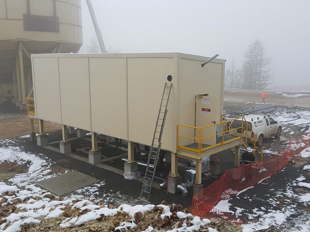 Installation of transportable distribution substation 6/0,4 kV