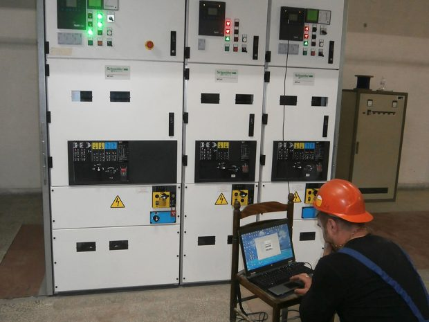 Installation and setup of switchgear 10 kV