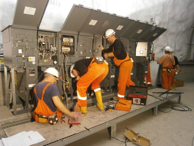 Installation mine switchgear 6 kV