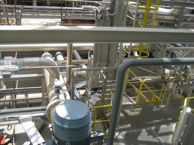 Installation of Process control system in sulphuric acid plant