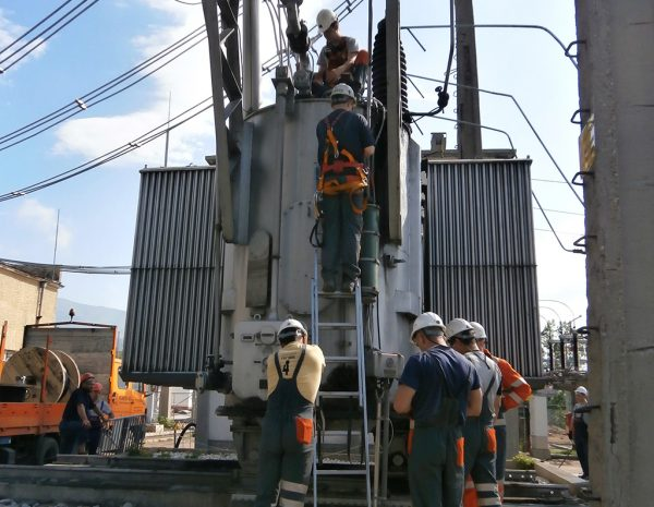 Replacing the operating cables of transformer 110/6 kV