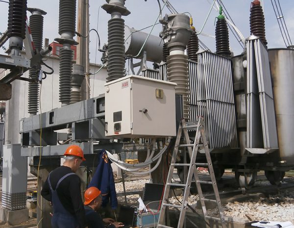 Measurement operating times of 110 kV circuit breaker