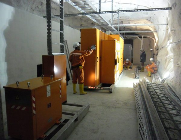 Installation of mining transformer substation