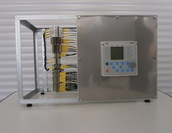Design and production of training stand for microprocessor protection type REF615 (ABB).